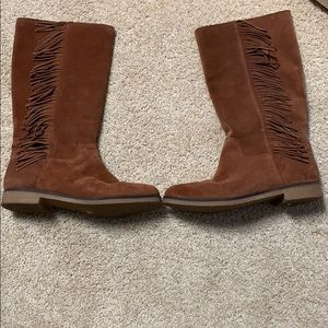 Lucky Brand Suede Leather Boots